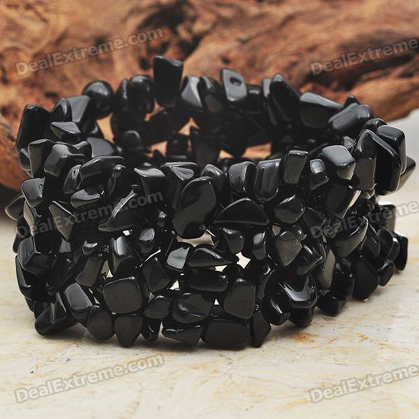 Trendy Black Onyx Wide Stretch Bracelet кардиган mango kids mango kids ma018egafmq8