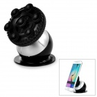 "Creative Globe Style Suction Cup Car Mount Holder Bracket for 3.0~5.5"" Cell Phone - Black + Silver"