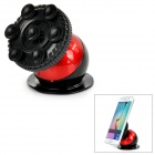"Creative Globe Style Suction Cup Car Mount Holder Bracket for 3.0~5.5"" Cell Phone - Black + Red"