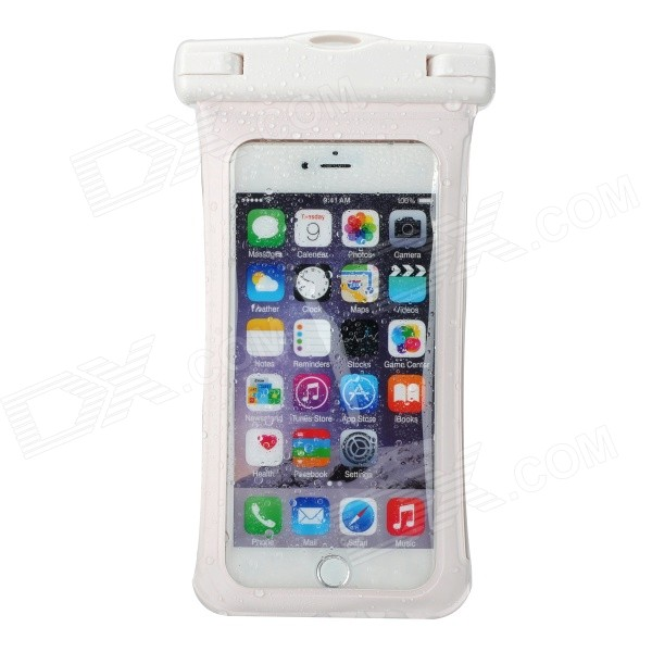 Funda impermeable con brazalete, mosquetón para IPHONE 6 PLUS - blanco