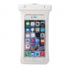 "Protective Waterproof PVC Case Pouch w/ Strap / Armband / Carabiner for IPHONE 6 PLUS 5.5"" - White"