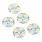 32mm 4W 300lm caliente luz blanca módulo de 4 LED - blanco (5PCS / DC 12 ~ 14V)