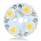 32mm 4W 300lm Warm White Light 4-LED Module - White (5PCS / DC 12~14V)