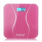 Prointxp VM168 Bluetooth Digital Bathroom Scale for Smartphones - Pink (2 x AAA)