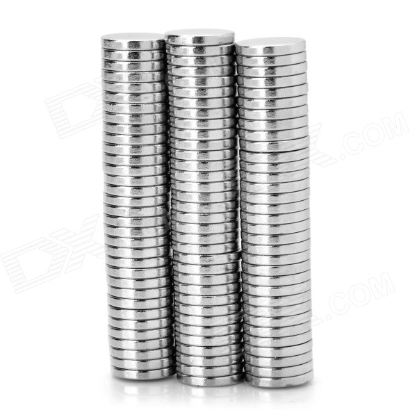 N35 ímã do ndfeb de 12 * 2mm - prata (100PCS)