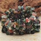 Multicolor Jasper Gemstone Wide Stretch Bracelet