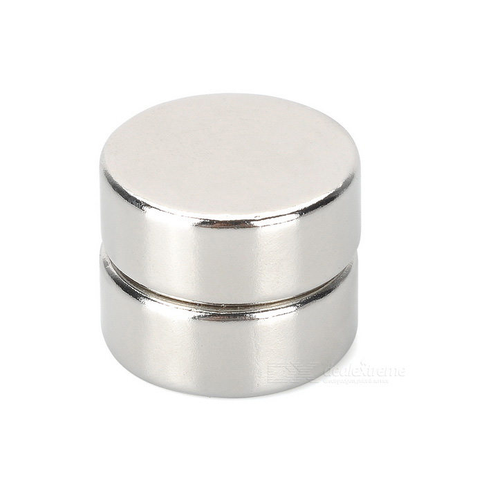 25*10mm Round Shaped NdFeB Magnets - Silver (2PCS)