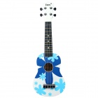 "IRIN 21"" Hawaiian Patterned Wooden Ukulele Guitar String Instrument - Blue + White"