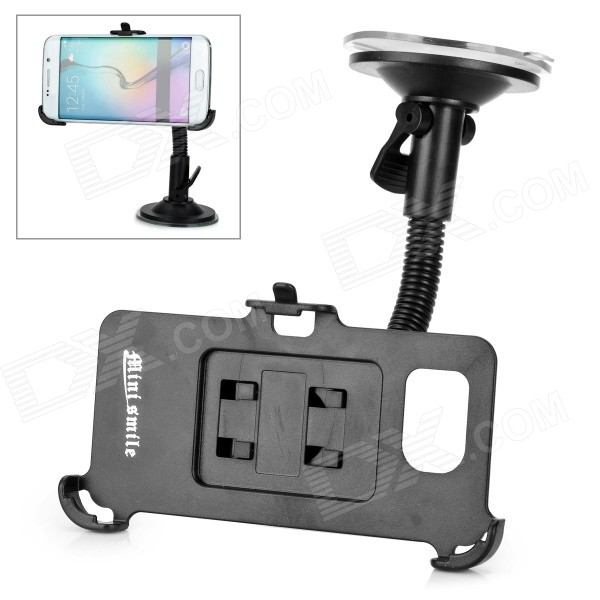 Mini Smile Flexible Neck Car Mount Holder for Samsung S6 Edge - BlackMounts &amp; Holders<br>Form ColorBlackMaterialABSQuantity1 DX.PCM.Model.AttributeModel.UnitMount TypeCar MountCompatible ModelsSamsung Galaxy S6 EdgePacking List1 x Stand1 x Phone holder<br>