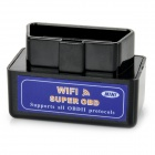 V1.5 Mini Wi-Fi OBDII Car Vehicle Code Reader Scanner Tester Diagnostic Tool - Black