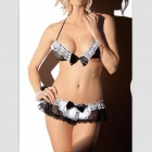 Women's Housemaid Maidservant Style Lace Sexy Lingerie - Black + White