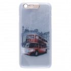 "Red Bus / Car Pattern LED Flash Light Protective PC Back Cover Case for IPHONE 6 4.7"" - Grey + Red"