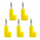 Jtron 4mm Banana Plugs for BINDING POST Test Probes Speakers Amplifiers - Yellow (5 PCS)