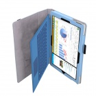 PU Case Cover w/ Stand & Hand Strap for Surface Pro 3 - Sky Blue