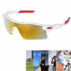 UV Protection Anti-Explosion Yellow REVO Sunglasses for Outdoor Cycling / Parkour Sport - White