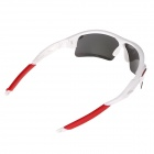 UV Protection Anti-Explosion PC Lenses Sunglasses for Cycling - White