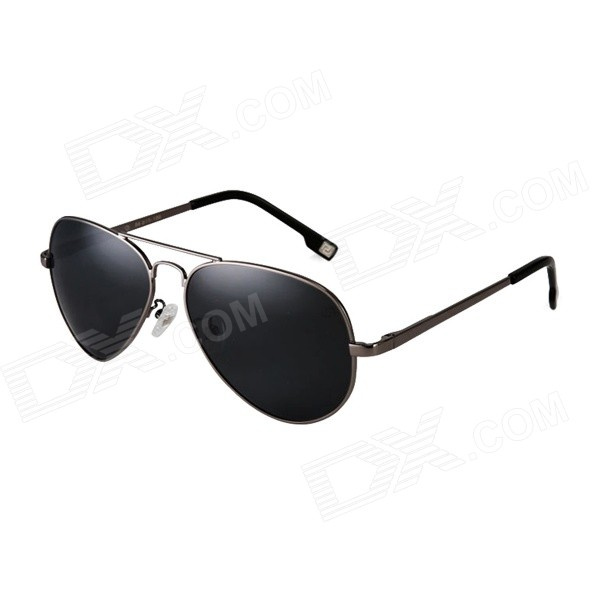 ReeDoon 4025 High Nickel Alloy Frame Resin Sunglasses - Gun Grey