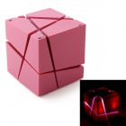 MOWTO Qone Magic Cube Colorful Light Wireless Bluetooth V2.1 + ESR Speaker w/ Mic / Handsfree - Pink