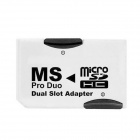 CY EP-087 Dual Slot Micro SD / TF to MS Memory Stick Pro Duo Adapter for Sony PSP & Mobile Phone