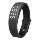 Multifunctional USB LED Smart Bracelet w/ 3D Pedometer & Sleep Monitor & Calorie Counter - Black
