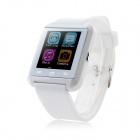 """MOWTO U8-T 1.44"""" Screen Bluetooth V4.1 Smart Watch w/ Altimeter for IOS Android Smartphones - White"""