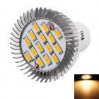 WaLangTing GU10 5W LED Spotlight Warm White 3200K 350lm 15-SMD 5730 - Silver + White (AC 110~240V)