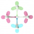YGH-556 Portable Bamboo Dragonfly Design Mini USB Fan - Blue + White