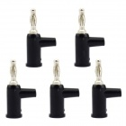 Jtron Solderless Stackable 4mm Banana Plugs - Black (5 PCS)