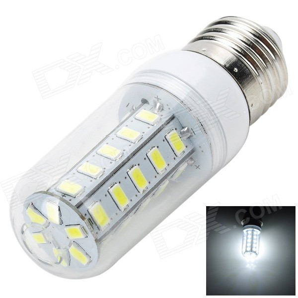 E27 7W 700lm 36-5730 SMD LED Cold White Light Corn Lamp (AC 220~240V)