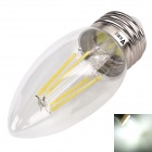 WaLangTing E27 4W COB LED Decorative Bulb White Light 6500K 350lm - Silver ( AC 220~240V )