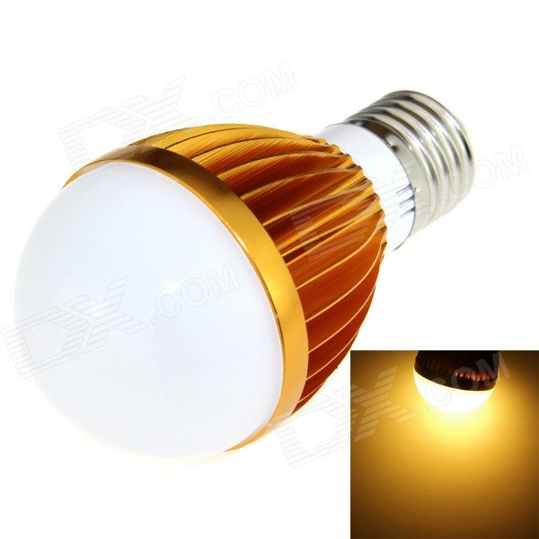 E27 5W LED Globe Bulb Lamp Warm White 600lm 10-SMD - Golden + Silver