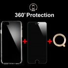 TPU Case + Tempered Glass Film + Lens Guard Ring for IPHONE 6 - Golden