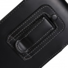 PU Flip-Open Case Cover w/ Waist Belt Clip for Sony Xperia Z4 - Black