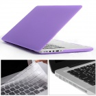 "Mr.northjoe 3-in-1 PC Matte Case + Keyboard Cover + Dust Plugs for RETINA MACBOOK PRO 13.3"" - Purple"