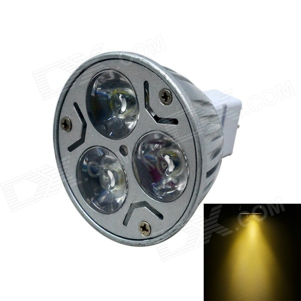 MR16 3W 300lm Warm White Dimmable LED Spotlight - Silver Grey (DC 12V)