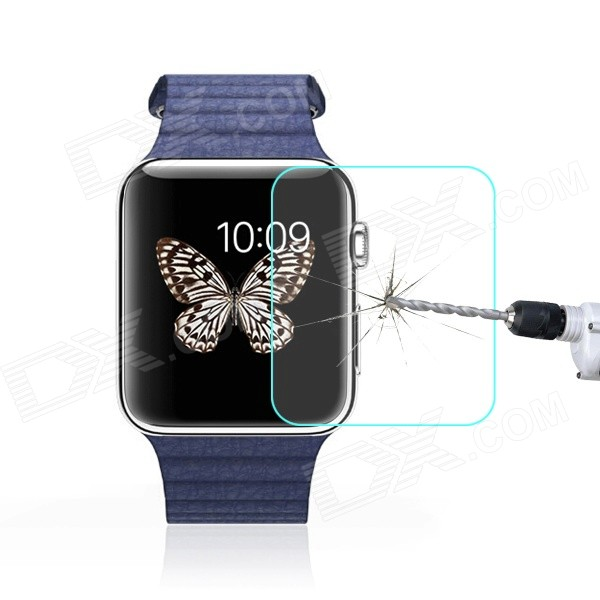 0.3mm Tempered Glass Film for iWatch 42mm - Transparent