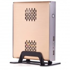 Dual-Core MIni PC Desktop Computer Main Unit / Case w/ HDMI, VGA, USB.0, LAN - Golden