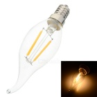 E14 2W LED Filament Candle Bulb Warm White 2700K 160lm – Transparent + Silver (AC 220V)