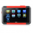 "3.0"" Screen MP3 / MP4 / MP5 Player w/ Voice Recording / Mini USB / TF / FM / E-Book - Black + Red"