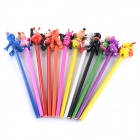 12-in-1 Stationery Gifts Colorful Animals Pattern Art Pencils for Children - White + Multi-Colored