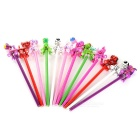 12-in-1 Stationery Gifts Colorful Zebras Pattern Art Pencils for Children - White + Multi-Colored