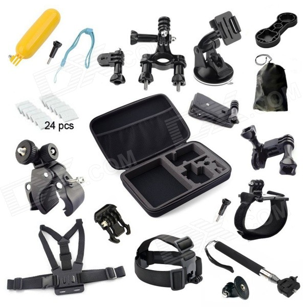 43-in-1 Accessories Bundle Kit for GoPro Hero 4 3+ 3 2 1 - Black