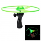 3-LED RGB Light Flashing Flying Saucer w/ Drawing Handle - Green (3 x AG10)
