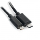 USB 3.1 Type-C to Micro USB Data Connection Cable - Black (102cm)
