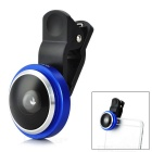 Professional 235-Degree 0.4X Fish Eye Clip-On Lens for Samsung / Xiaomi / HTC - Blue + Black