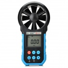 "Bside Eam02 Professional 1.7"" LCD Wind Speed Meter w/ Wind Flow Test - Black + Blue"