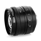 50mm F1.8 Digital Camera Lens w/ C-M4/3 Adapter Ring Set for Olympus / Panasonic Cameras - Black