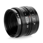 35mm F1.6 Camera Lens w/ C-M4/3 Adapter Ring for Olympus EP-1 / Panasonic G1 + More - Black