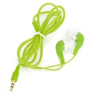 Auriculares In-Ear Crystal Cable w / 3,5 mm Jack - verde (110cm)