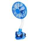 USB Powered 180 Degree Rotary 4-Blade 2-Mode Clip-on Desktop Fan - Blue